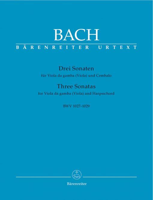 Bach, JS - 3 Gamba Sonatas BWV 1027 1029 for Viola and Piano - Barenreiter Verlag URTEXT Edition